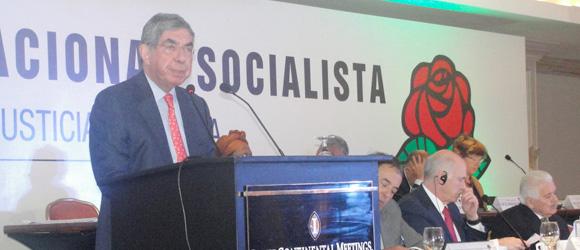 Oscar Arias participó en clausura del Consejo de la Internacional Socialista
