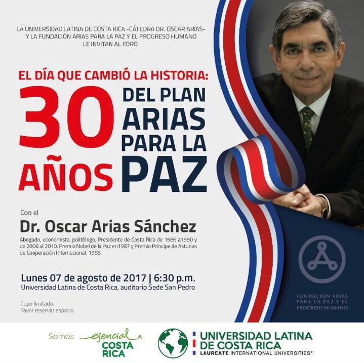 30 años del Plan Arias para La Paz